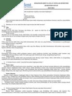 Contoh Soal PLH Kelas XI IPA