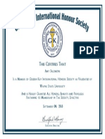 golden key certificate