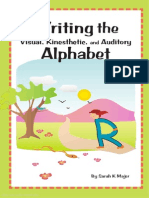 Writing the Visual Kinesthetic and Auditory Alphabet FREE SAMPLE