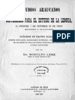 Rodolfo Lenz - Estudios Araucanos