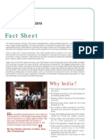 India Road Show 2010_Fact Sheet