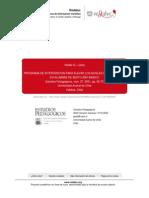 PROGRAMA DE INTERVENCION PARA ELEVAR LOS NIVELES DE AUTOESTIMA EN ALUMNOS DE SEXTO AÑO BASICO