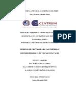 Modelo de Gestion Para Las Empresas Distribuidoras Electricas Estatales