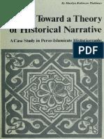 Toward a Theory of Historical Narrative