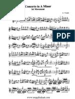 Vivaldi Concerto a Minor 1st Movement