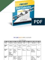 FLF Diet Calendar