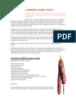 Los Embutidos Criollos Caseros (Salame,Bondiola,Etc)