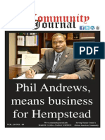 The New Community Journal features Long Island African American Chamber of Commerce, Inc.'s President, Phil Andrews - Cover Story
