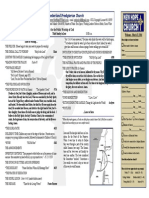 March 23, 2014 Worship Bulletin