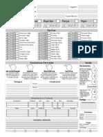 Savage Worlds - Test Drive 6 (2.0) - (b) Ficha Pc (Print) c&s