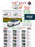 Toyota of Palo Alto Sunnyvale Mountain View - Print Ad Used Cars Corolla Yaris Camry Prius Highlander Rav4