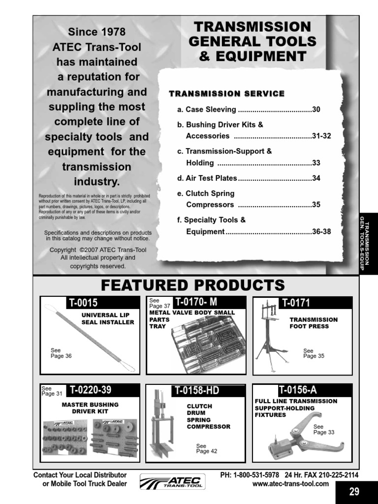 Att trans tools transmission mechanics clutch fandeluxe Gallery
