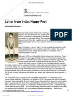 Letter From India_ Happy Feet