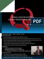 Peran Asesor Internal Dalam Perrsiapan Akreditasi