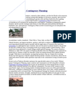 Natural Disasters Contingency Planning