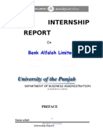 Bank Alfalah Internship Report