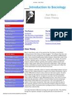 Class Theory Karl Marx