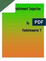 Presentation on Special Establishment Inspection by Sh. Venkateswaran V