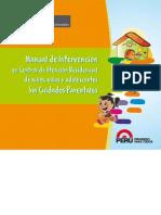 MANUAL DE INTERVENCION EN CENTROS DE ATENCION RESIDENCIAL DE NIÑOS , NIÑAS  Y ADOLESCENTES SIN CUIDADOS PARENTALES