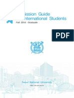 Admission Guide for Fall 2014(Graduate)