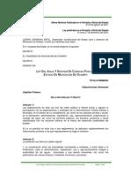 Ley del Agua y Gestión de Cuencas para el Estado de Michoacán de Ocampo