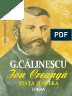 Calinescu George - Viata Si Opera Lui Ion Creanga (Tabel Cro