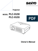 Sanyo Plc Xu35 User Manual