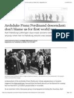 Archduke Franz Ferdinand Descendant