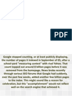 Pushing Bad Data- Google