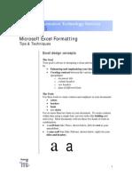 Excel Formatting Manual