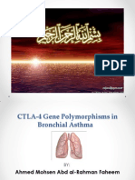 CTLA-4 Gene Polymorphisms in Bronchial Asthma
