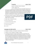 Language and Skills Test 6 Key