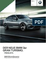 BMW 3er GT - 2013 Preisliste