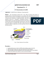 Plot v-I & PI Characteristics of LASER Diode