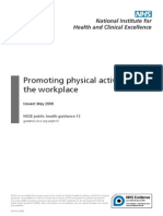 Promoting physical activity in