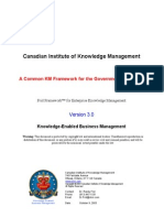 A Common KM Framework for the Government of Canada