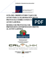 Manual Del Observatorio Vasco Sobre Procedimientos de Acoso Laboral