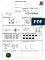 Tenambit PS Maths Key Ideas Ass ES1 T3