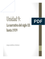 U9. La Narrativa Del Siglo XX Hasta 1939