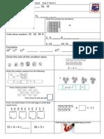 Tenambit PS Maths Key Ideas Ass Yr1 T2