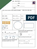 Tenambit PS Maths Key Ideas Ass Yr3 T2