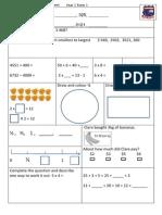Tenambit PS Maths Key Ideas Ass Yr3 T3