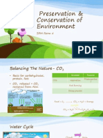 Preservation & Conservation of Enviroment