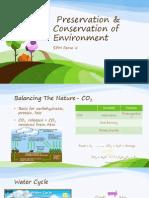 Preservation & Conservation of Enviroment