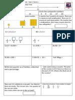 Tenambit PS Maths Assessment Year 6 Term 2
