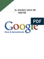 Google Docs realizado en Writer