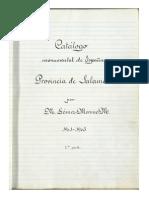 Catalogo Monumental - Provincia Salamanca - Gomez Moreno, Manuel (1890-1970)
