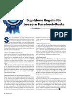 Fünf goldene Regeln für bessere Facebook-Posts