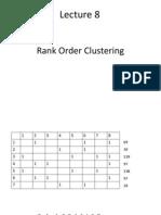 8, 9 Rank Order Clustering