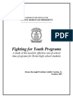 Fighting for Youth Programs A study of the need for effective out-of-school time programs for Bronx high school students
